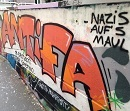 Soli Graffiti: Ob Bautzen oder sonstwo... ANTIFA. Nazis auf's Maul!