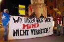 Transparent: Wir lassen uns nicht den Mund verbieten, Foto: Plattform Bleiberecht