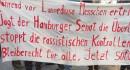 Während vor Lampedusa Menschen ertrinken, jagt der Hamburger Senat die Überlebenden. Stoppt die rassistischen Kontrollen! Bleiberecht für alle. Jetzt sofort!