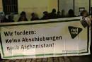Demonstration gegen Abschiebungen am 10. Dez 2018 in Wien.