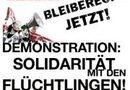 Demo Linz Solidarität mit den Refugee-Protesten in Wien