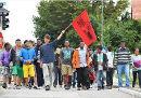Der Protestmärsche erreichen München - die Polizei konnten sie trotz aller Repression nicht stoppen.