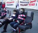 Kundgebung zum Prozessbeginn gegen die Fremdenpolizisten, Korneuburg, 03. Mar 2002