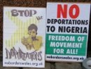 No deportation to Nigeria, protest by No Borders South Wales, 2010.