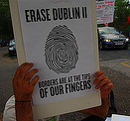 'Erase Dublin II' - Protest am 19. August 2013.