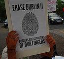 'Erase Dublin II' - Protest am 19. August 2013.