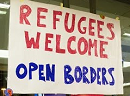 Refugees welcome - open borders