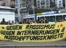 Gegen Rassismus, gegen Internierungen & Ausschaffungsknäste