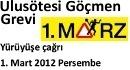 Mehrsprachiger Aufruf zur Demonstartion am 1. März 2012 in Innsbruck - hier auf türkisch.