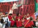 Triqui women in the Oaxaca zocalo. Photo: D.R. 2006 Nancy Davies.