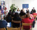 Internationale Pressekonferenz zu Menschenhandel von GAATW in Kooperation mit LEFÖ am 12.02.2008 in Wien. Am Podium: Eleanor Taylor-Nicholson, Dr Renu Rajbahandari, Evelyn Probst, Dr Helga Konrad