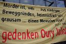 Gedenken an Oury Jalloh in Dessau