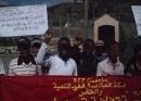 Protest am Zaun von Ceuta