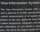 Informationen zum VIS in der Ausstellung: Die Grenze ist überall. Schengener Abkommen, Auswirkungen, Instrumente & Widerstand.