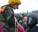 Clown auf der Migrationsdemo am 04. Jun 2007