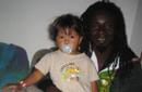 Yaya mit seiner Tochter