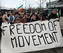 Die Aktivist_innen fordern: Freedom of Movement!