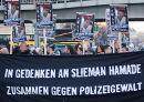 In Gedenken an Slieman Hamade. Zusammen gegen Polizeigewalt. Berlin, 5. März 2011