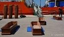 Traurige Routine in Trapani auf Sizilien: Jeden Tag sterben auf der zentralen Mittelmeerroute mindestens 13 Menschen auf der Flucht nach Europa. Die Särge stehen dort schon bereit... Foto: UNHCR / Maria Grazia Pellegrino