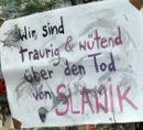 Wir sind traurig und wütend über den Tod von Slawik - Demonstration in Hannover am 9. Juli 2010