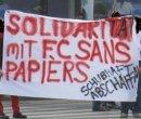 Solidarität mit dem FC Sans Papiers - Schubhaft abschaffen