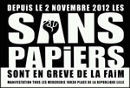 Sans Papiers in Lille - seit 2. November 2012 in Hungerstreik.