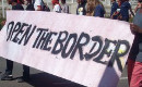 Open the border, Calais, 8th of August 2015