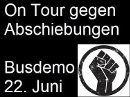 On Tour gegen Abschiebungen - Busdemo am 22. Juni 2018 in Wien