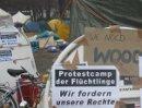 Das Protestcamp der Flüchtlinge im Sigmund Freud Park in Wien