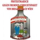 Protestmarsch gegen Fremden-Unrechtspaket von Bregenz nach Wien