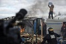 Teilweiser Abriss des Jungle von Calais
