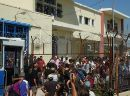 Protest - inside and outside Pagani detention centre