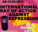 Sa, 10.03.2012: International Day of Action Against Repression