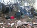 Migrants houses near Calais